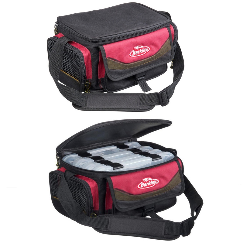 Berkley System Bag Red Black + 4 Boxes