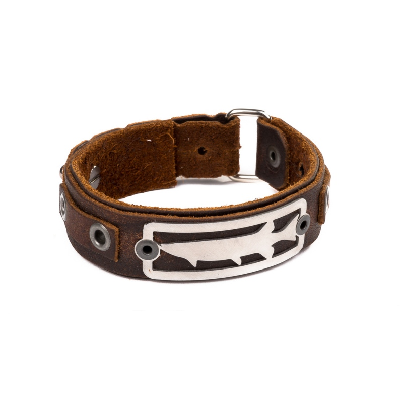 Sight Line Provisions - Pike 2.0 Leather Cuff Lederarmband brown