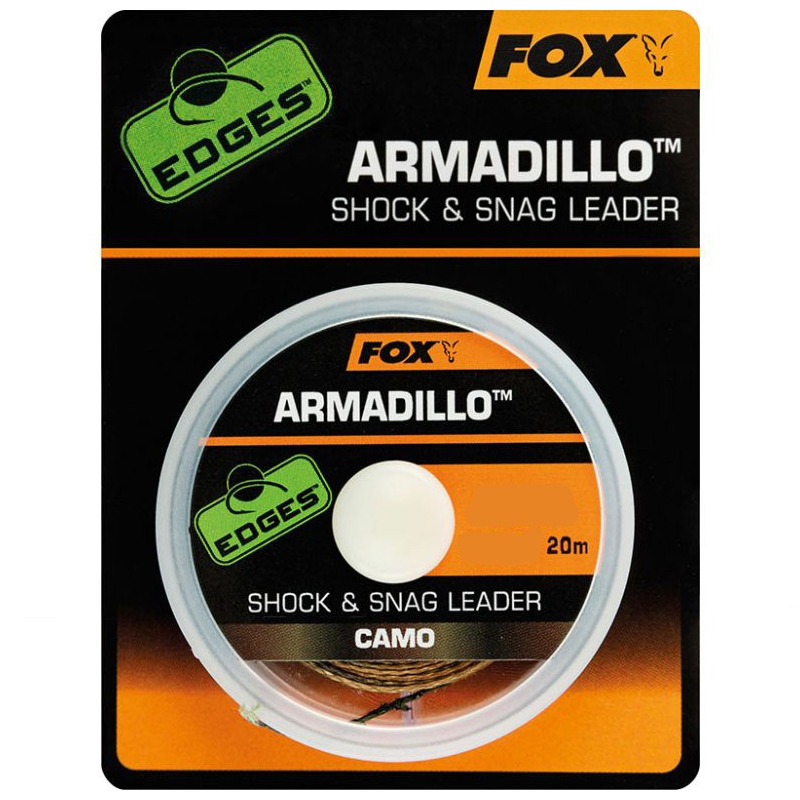 Fox Edges Armadillo Camo Shock & Snag Leader 40lb 18,14kg 20m