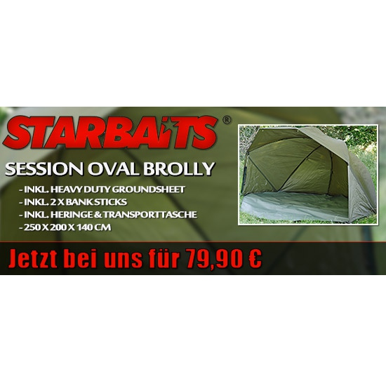 Starbaits Session Oval Brolly