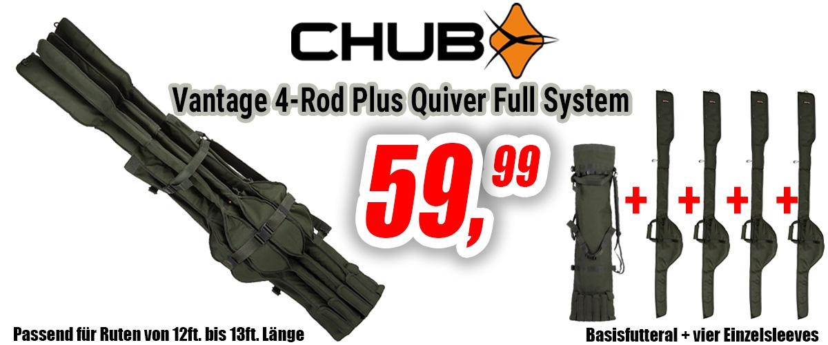 Chub Vantage 4-Rod Plus Quiver Full System